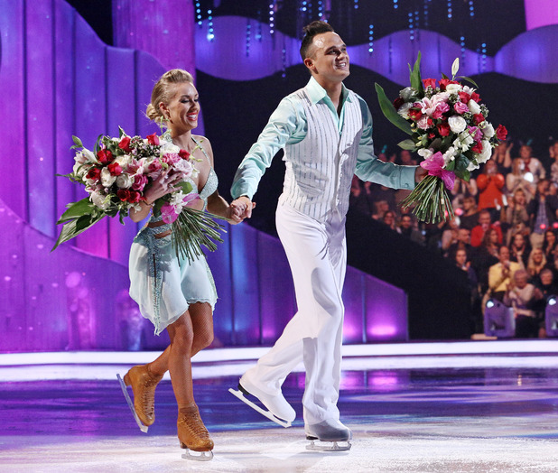 'Dancing on Ice' TV show, Elstree Studios, Hertfordshire, Britain - 09 Feb 2014 Gareth Gates and Brianne Delcourt are voted off