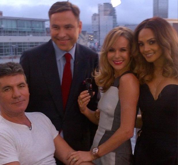 Britain's Got Talent judges Simon Cowell, Amanda Holden, David Walliams and Alesha Dixon in Cardiff.