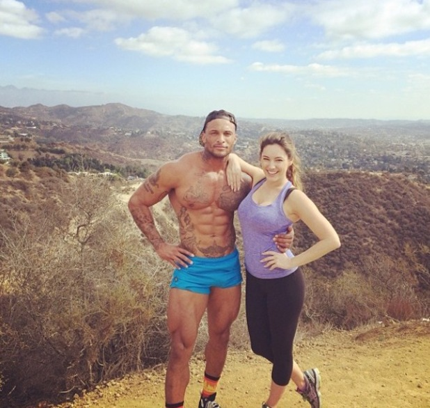 Kelly Brook and David McIntosh hike in Miami - February 2014