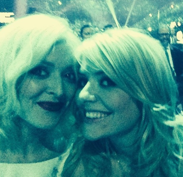 Fearne Cotton and Holly Willoughby at the National Television Awards in London - January 2014