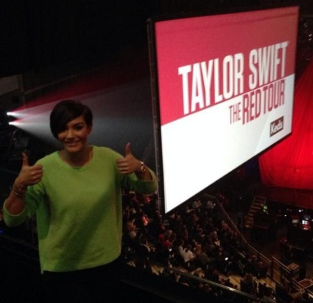 Frankie Sandford watches Taylor Swift gig