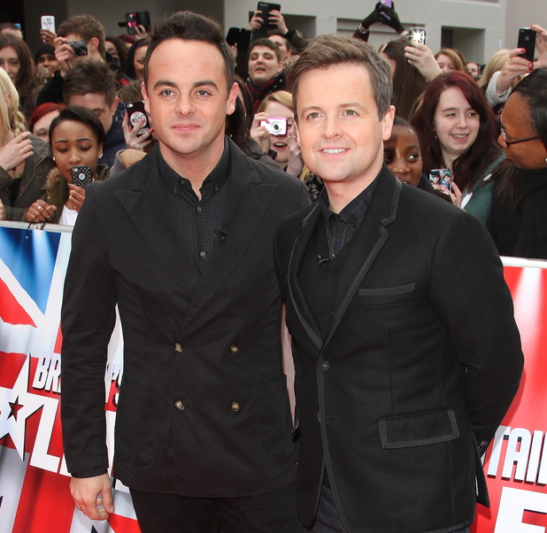 Ant and Dec at Britain's Got Talent auditions held at Hammersmith Apollo - Arrivals 02/11/2014