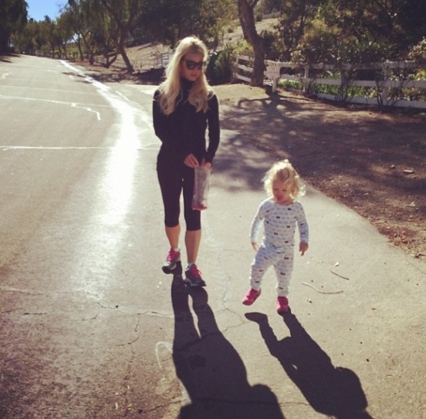 Jessica Simpson shares photo of daughter Maxwell - February 2014