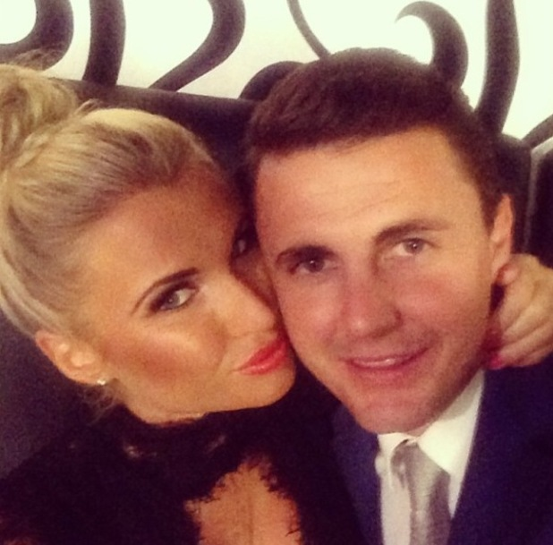 TOWIE's Billie Faiers pictured with boyfriend Greg Shepherd (13 February).