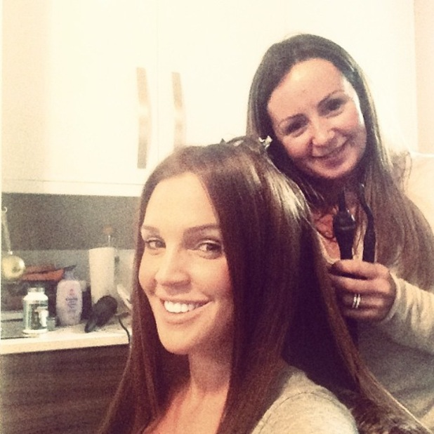 Danielle O'Hara gets new Great Lengths hair extensions - 9 February 2014