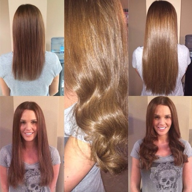 Danielle O'Hara shows off new Great Lengths hair extensions - 9 February 2014
