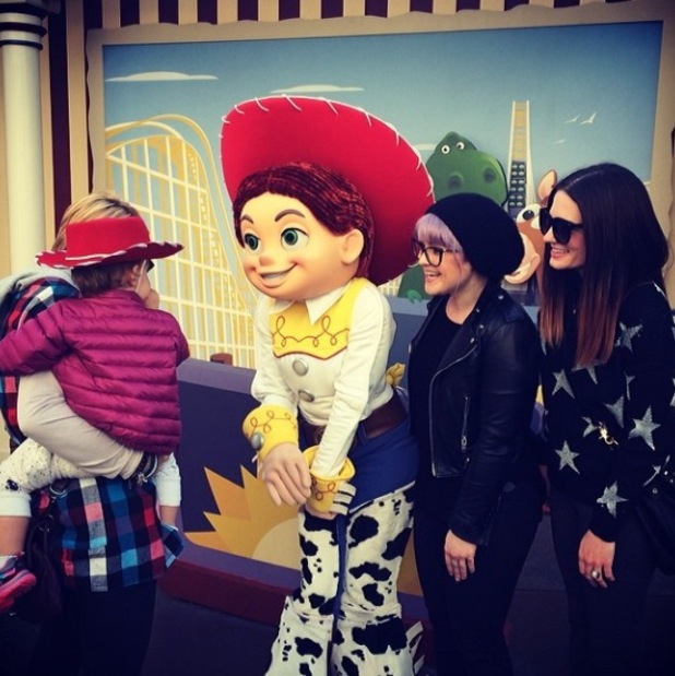 Kelly Osbourne and Jack Osbourne take Pearl to Disneyland - 11 Feb 2014