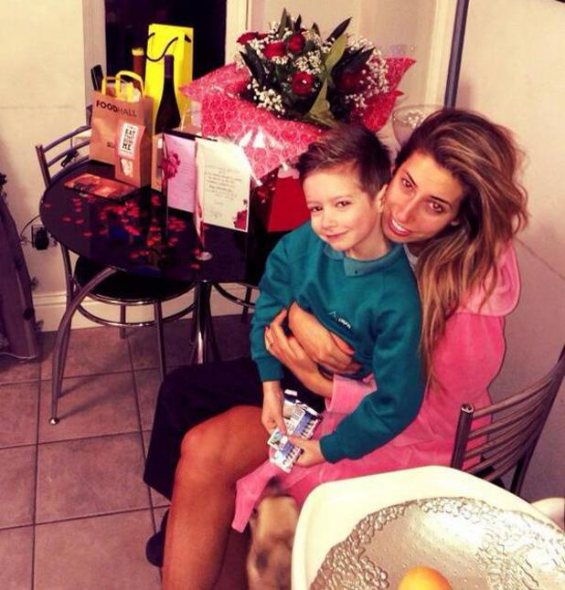 Stacey Solomon and son Zachary on Valentine's Day - 14 Feb 2014