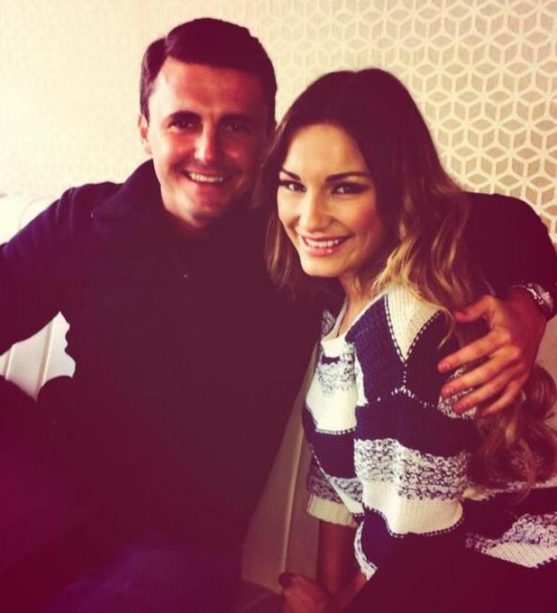 Sam Faiers posts photo with sister Billie's boyfriend, Greg Shepherd, after TOWIE filming (13 February 2014).
