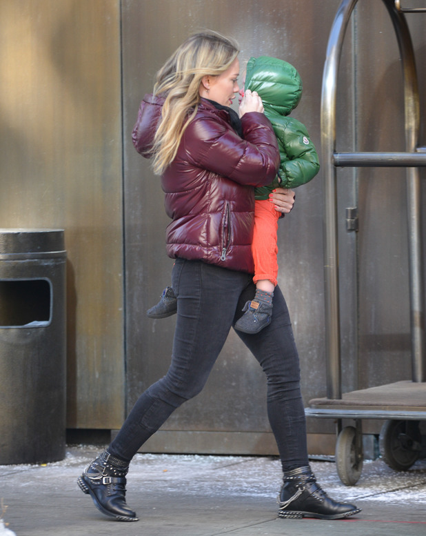 Hilary Duff out and about in New York, America - 11 Feb 2014