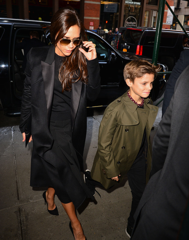 The Beckham (Victoria, David, Romeo, Harper, Brooklyn, Cruz) family out and about, New York, America - 09 Feb 2014