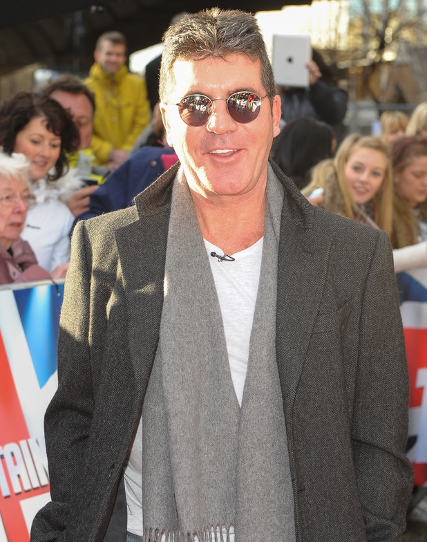 Simon Cowell at Britain's Got Talent London auditions held at Hammersmith Apollo - Arrivals 02/11/2014