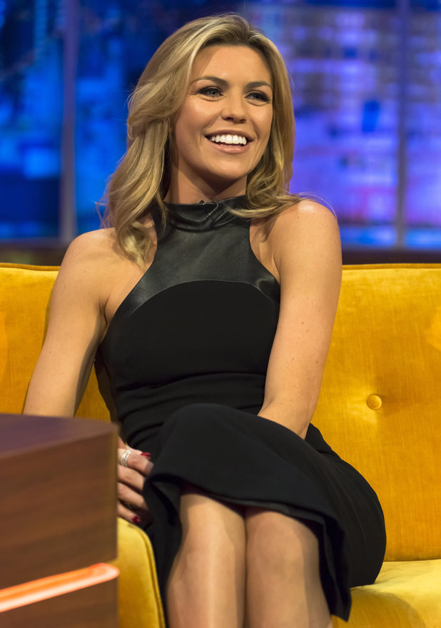 Abbey Clancy films an appearance for The Jonathan Ross Show in London - 13 February 2014