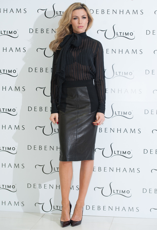 Abbey Clancy launches the Ultimo Valentine's Day collection at Debenhams on Oxford Street - 11 February 2014
