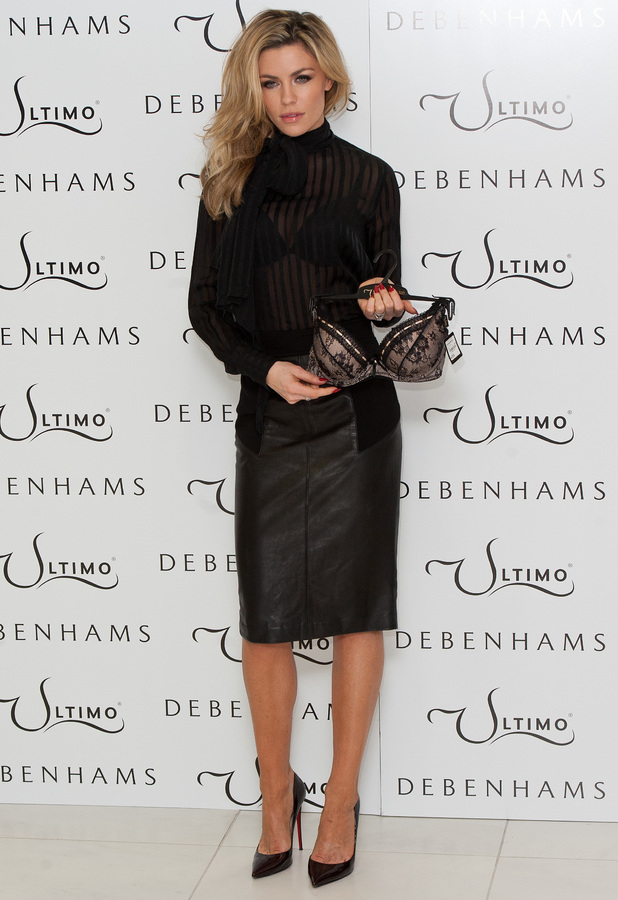Abbey Clancy launches the Ultimo Valentine's Day collection in Debenhams, London - 11 February 2014