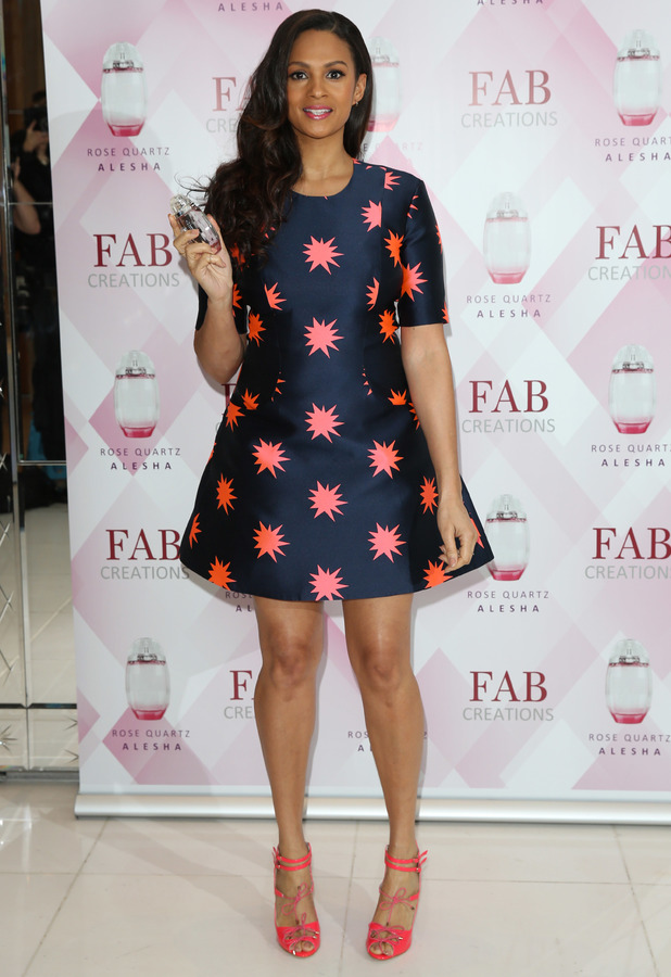 Alesha Dixon launches her Rose Quartz perfume at St. Martins Lane Hotel in London - 8 January 2014