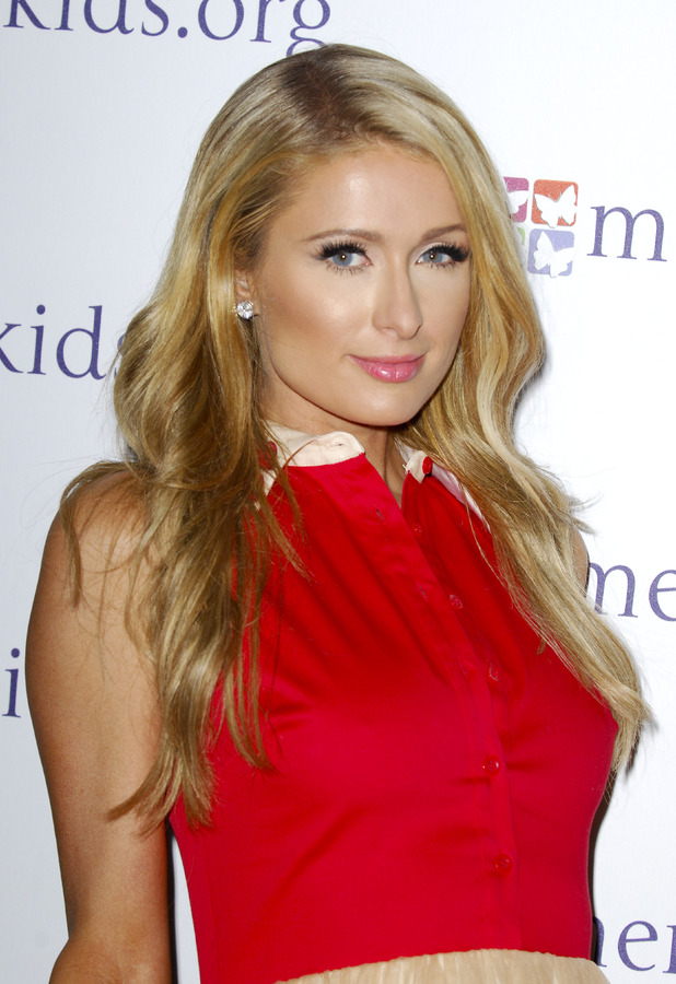 Paris Hilton attends Mending Kids International All-Star Concert, Los Angele - 14 Feb 2014