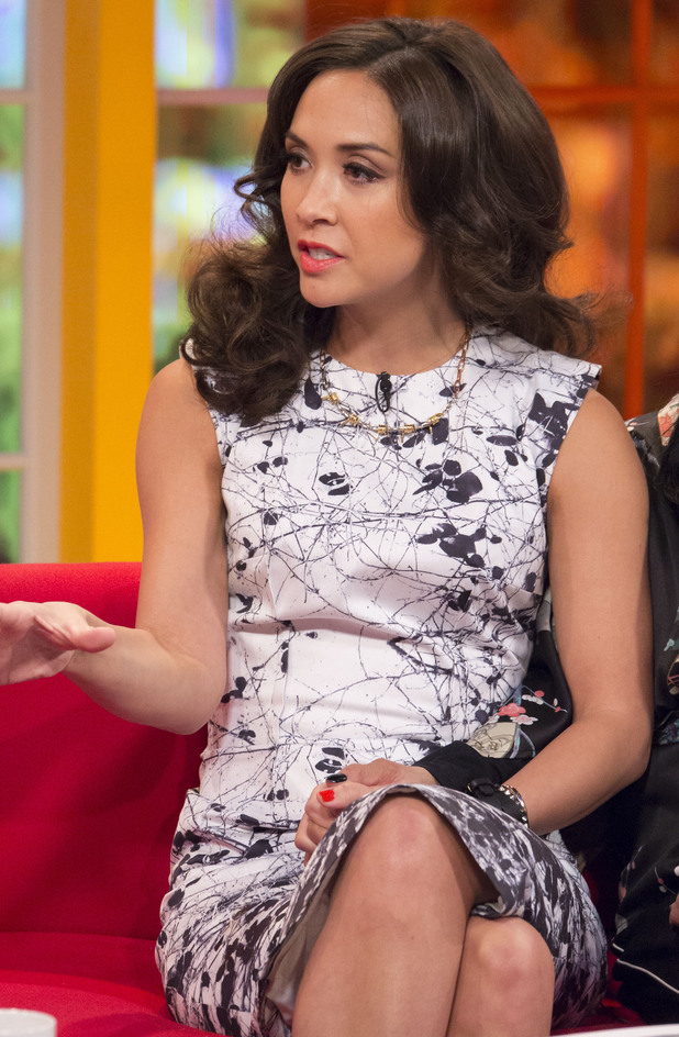 Myleene Klass appears on Daybreak - London, England - 10 February 2014