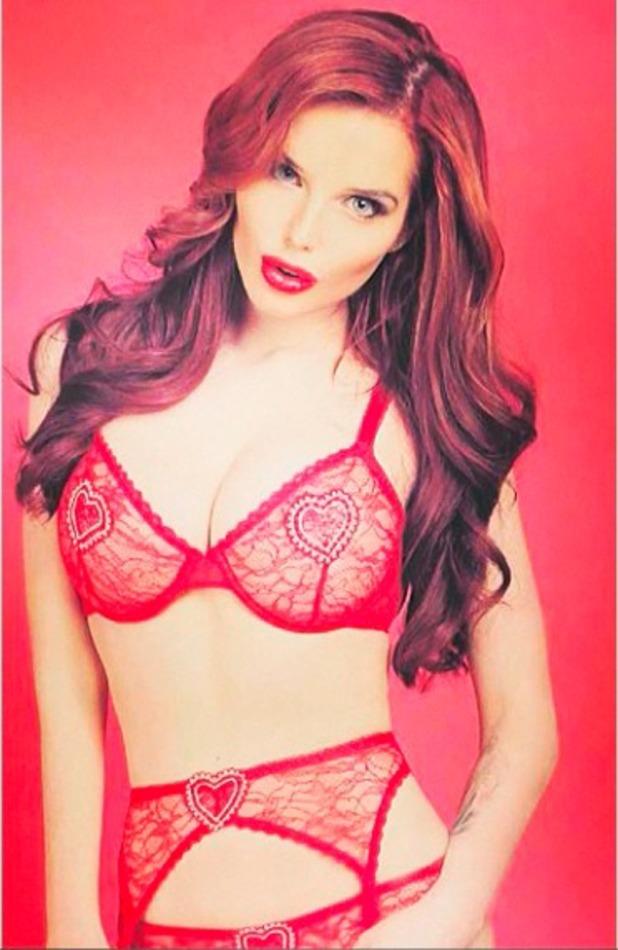 Helen Flanagan posts lingerie shot on Valentine's Day 2014