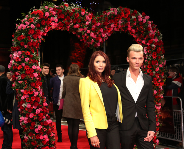 Amy Childs and Harry Derbidge - A New York Winter's Tale premiere held at Odeon Kensington - Arrivals 02/13/2013