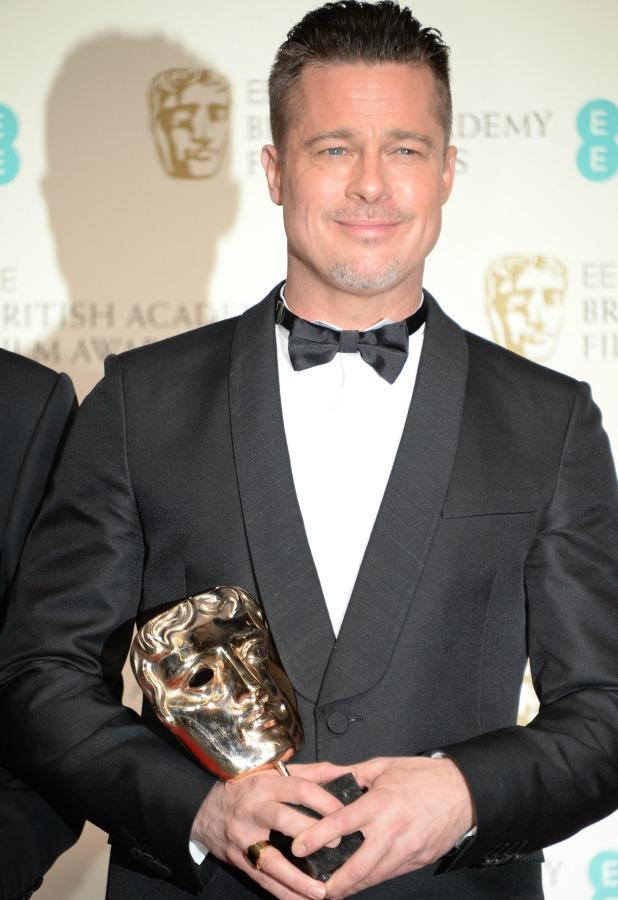 Brad Pitt, EE British Academy Film Awards, Press Room, Royal Opera House, London, Britain - 16 Feb 2014