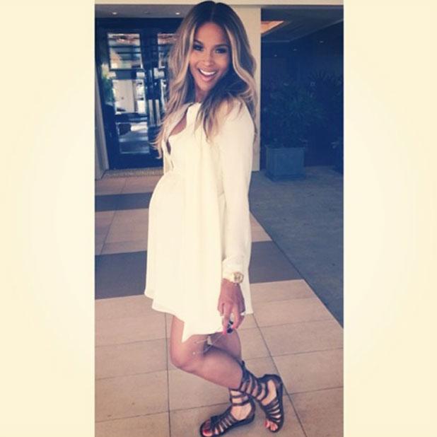 Ciara posts selfie to Instagram before shopping trip with Kim Kardashian, 14 February 2014