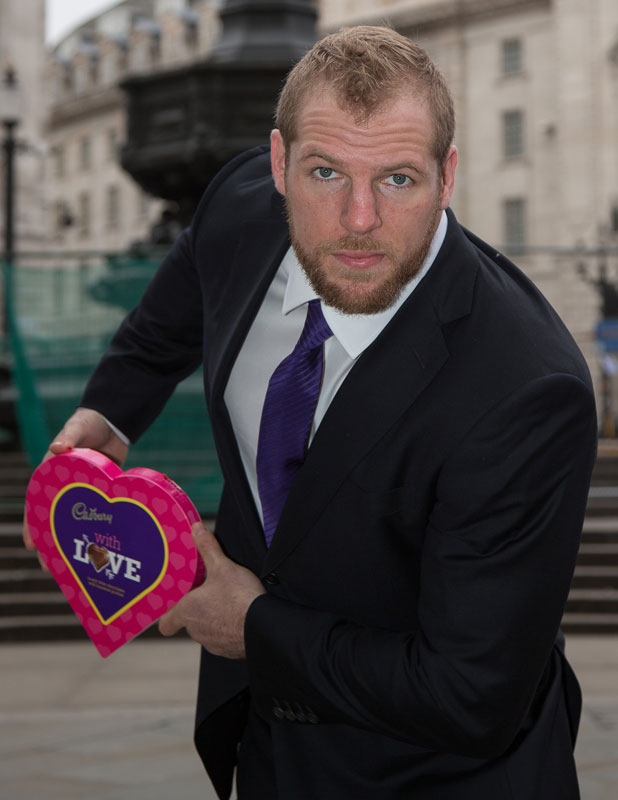 Rugby Player James Haskell and Cadbury With Love encourages the nation to show their crush how they feel this Valentine's Day, February 2014