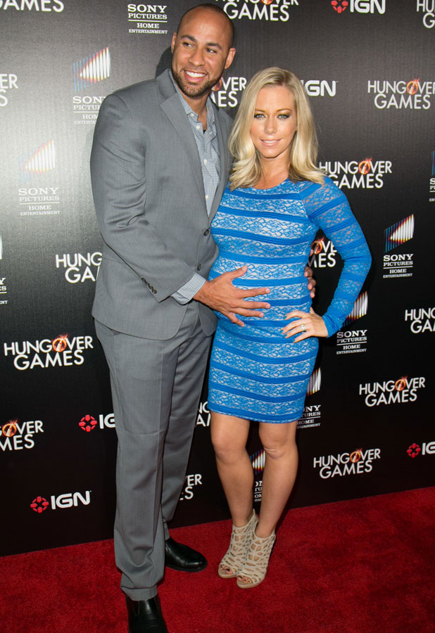 Kendra Wilkinson and Hank Baskett, premiere of 'The Hungover Games' held at TCL Chinese 6 Theatres, 11 February 2014