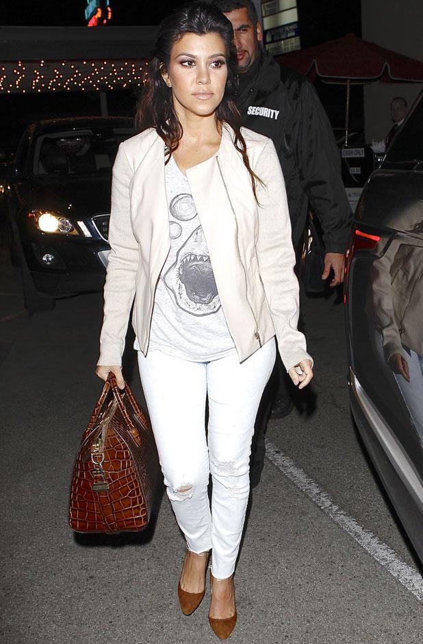 Kourtney Kardashian and Scott Disick leaving Casa Vega restaurant, 13 February 2014