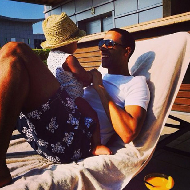 Marvin Humes with daughter Alaia-Mai, 11 February 2014