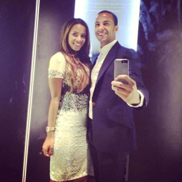 Rochelle and Marvin Humes during their holiday to Dubai, 12 February 2014
