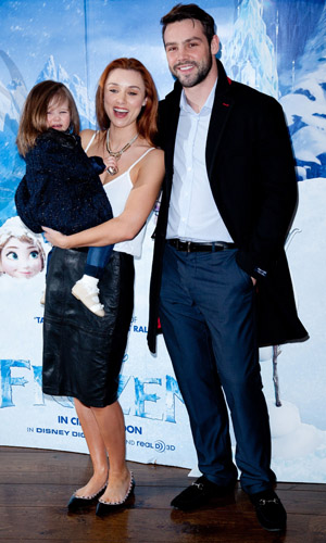 Una Foden, Ben Foden and Aoife Belle at a film screening for Frozen Sing-Along on 8 February 2014