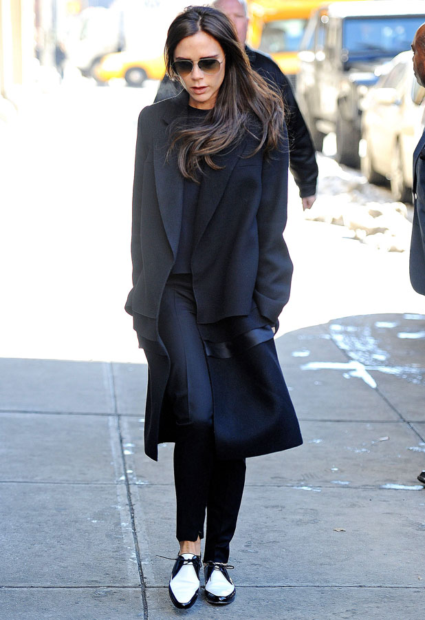 Victoria Beckham out and about in New York, America - 11 Feb 2014