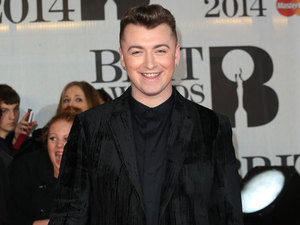 Sam Smith at the Brit Awards at O2, London, 19 February 2014