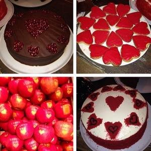 Imogen Thomas in Valentine's Day spirit - buys cakes - 14.2.2014