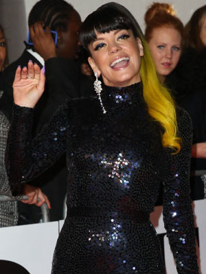 Lily Allen at the Brit Awards 2014, 19 February 2014