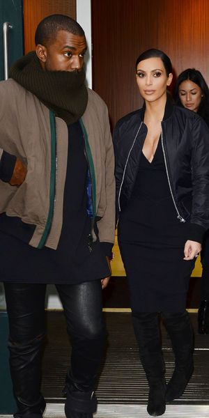 Kim Kardashian and Kanye West out and about, New York, America - 21 Feb 2014