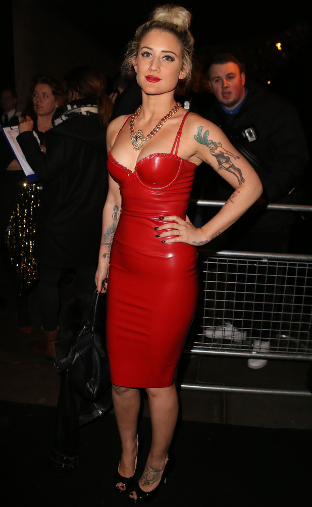 Celebrities leaving the BRIT Awards Universal Music Afterparty, London, Britain - 19 Feb 2014 Katie Waissel