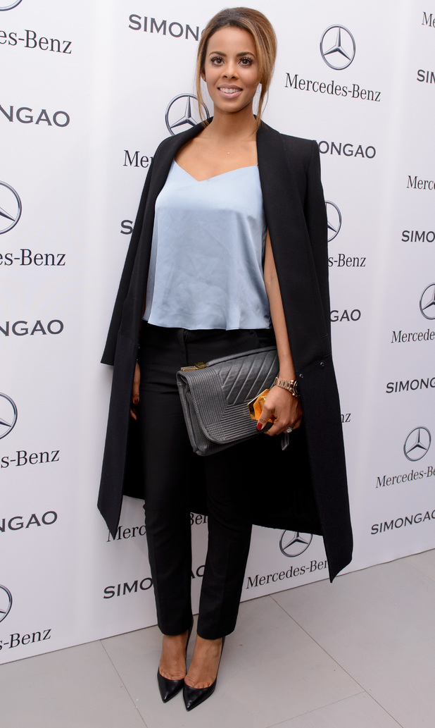 Rochelle Humes at AW14 Simon Gao show
