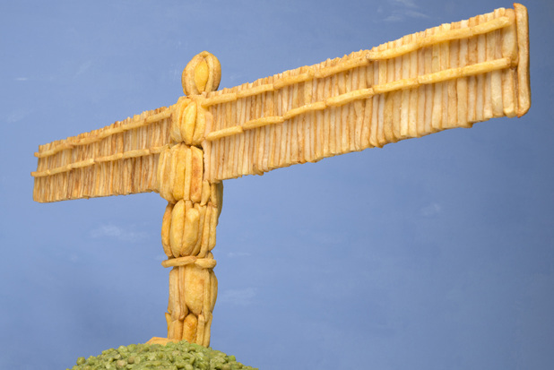Angel of the North made from chips