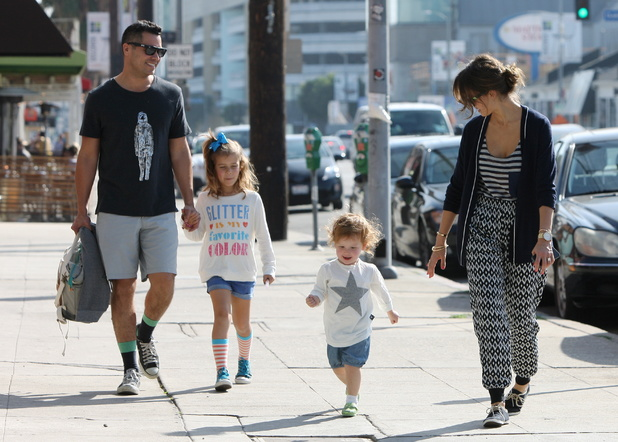 Jessica Alba and Cash Warren out and about with their daughters in West Hollywood - 16.2.2014