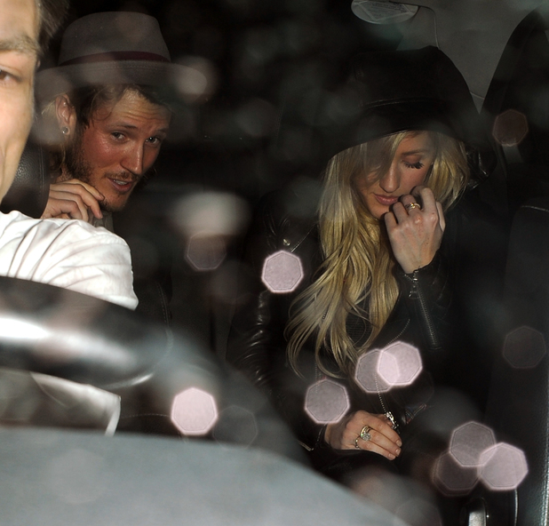 Ellie Goulding and Dougie Poynter - Storm Model Agency Party - Arrivals and Departures. 17 Feb 2014