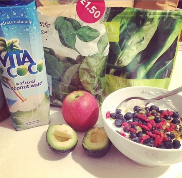 Millie Mackintosh Instagrams healthy food