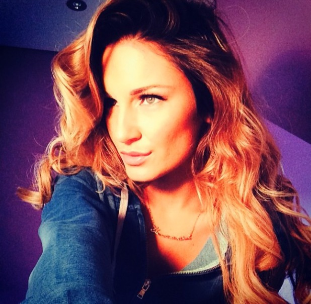 Sam Faiers shows off her big hair and Girls with Attitude lashes, for TOWIE filming, 18 February 2014