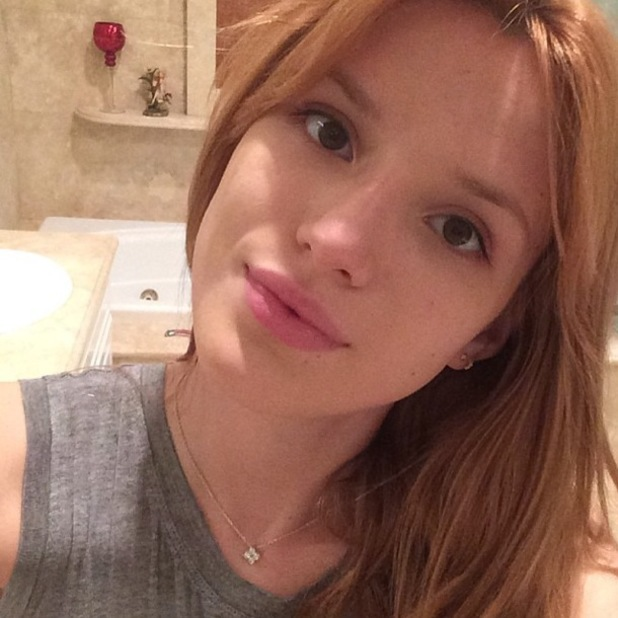 Bella Thorne posts a make-up free Instagram selfie - 13 February 2014