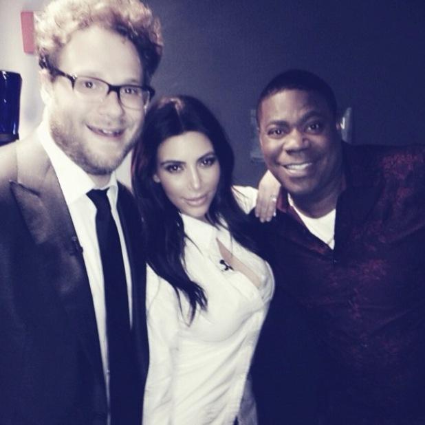 Kim Kardashian on The Tonight Show with Seth Rogen and Tracy Morgan - 17.2.2014