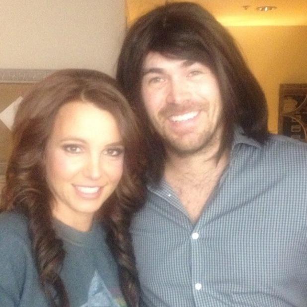 Britney Spears poses with boyfriend David Lucado in Las Vegas (15 February).