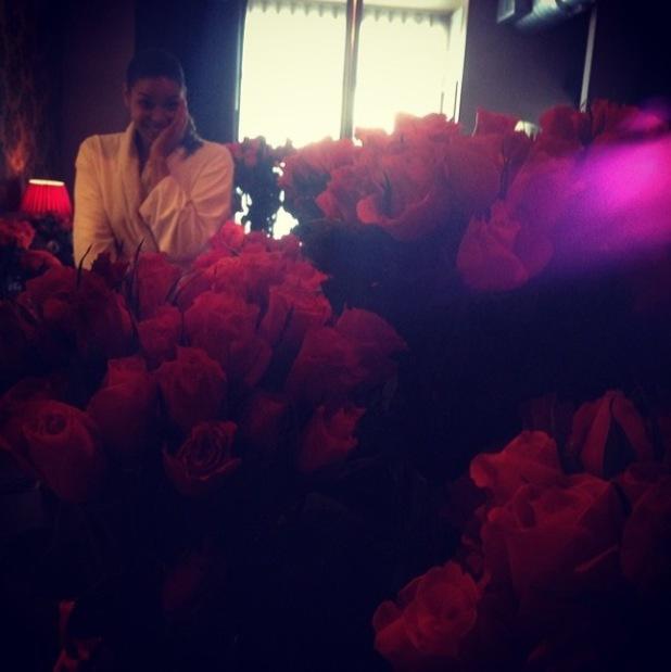 Jason Derulo and Jordin Sparks celebrate Valentine's Day with 10, 000 roses - 14.2.2014