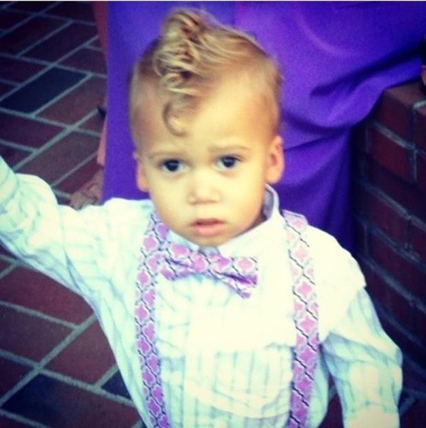Taryll Jackson's son Arden turns three - 18 Feb 2014