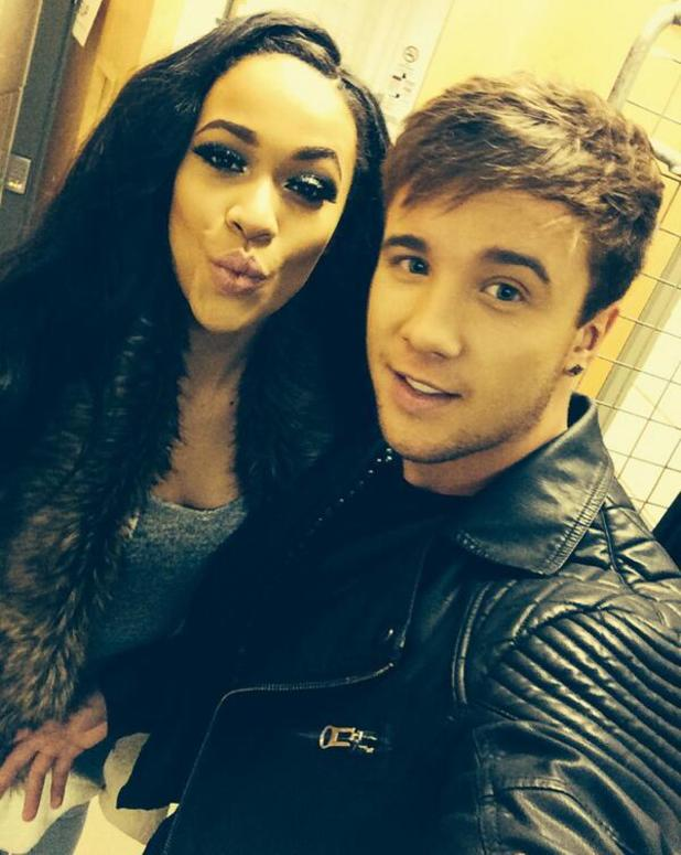 The X Factor Tour - Sam Callahan and Tamera Foster backstage (15 February 2014).